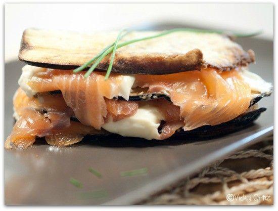 Lasaña-de- salmon-berenjenas-y-mozzarella