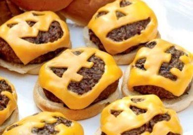 hamburguesas caseras halloween