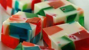 Cuadrados de gelatina