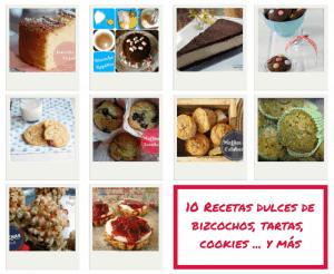 10 Recetas dulces de bizcochos tartas