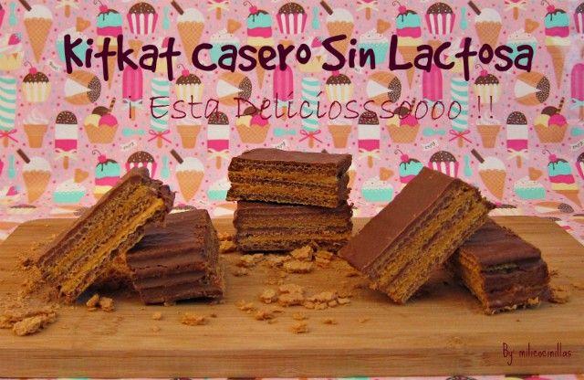 Torta Kit Kat sin lactosa