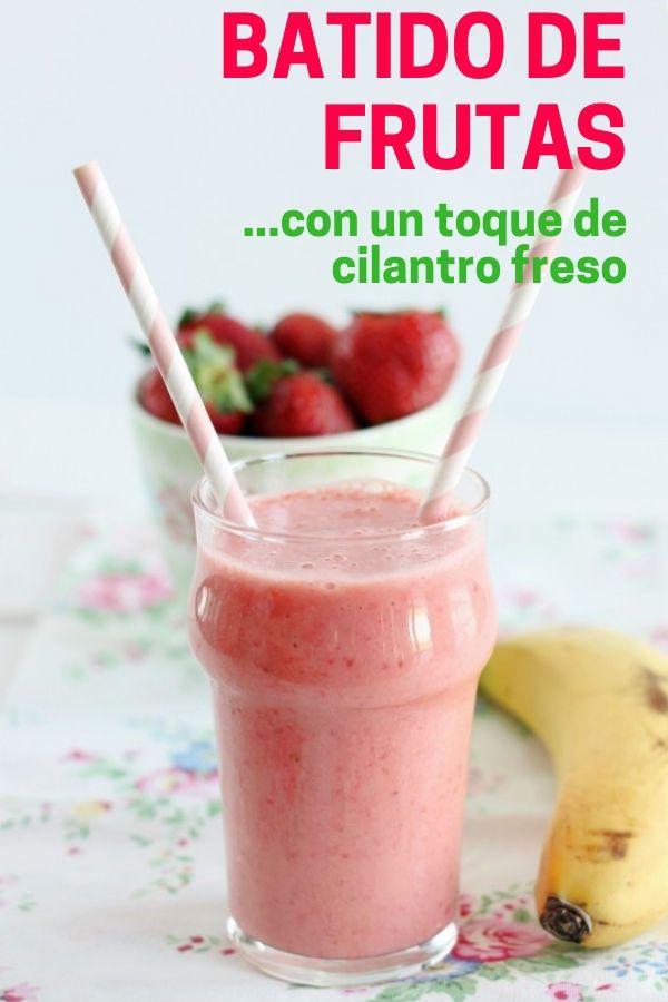 Batido de frutas refrescante