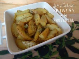 gajos de patatas hierbas provenzales