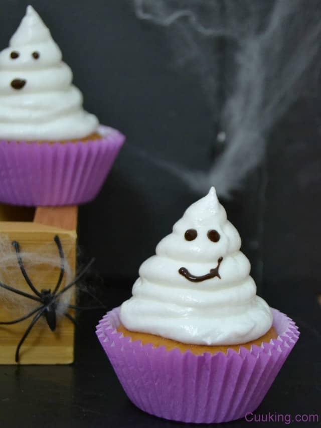 cupcakes fantasmas limón