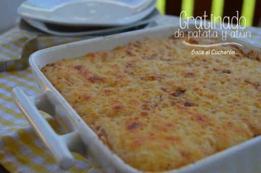 patatas con atun al graten