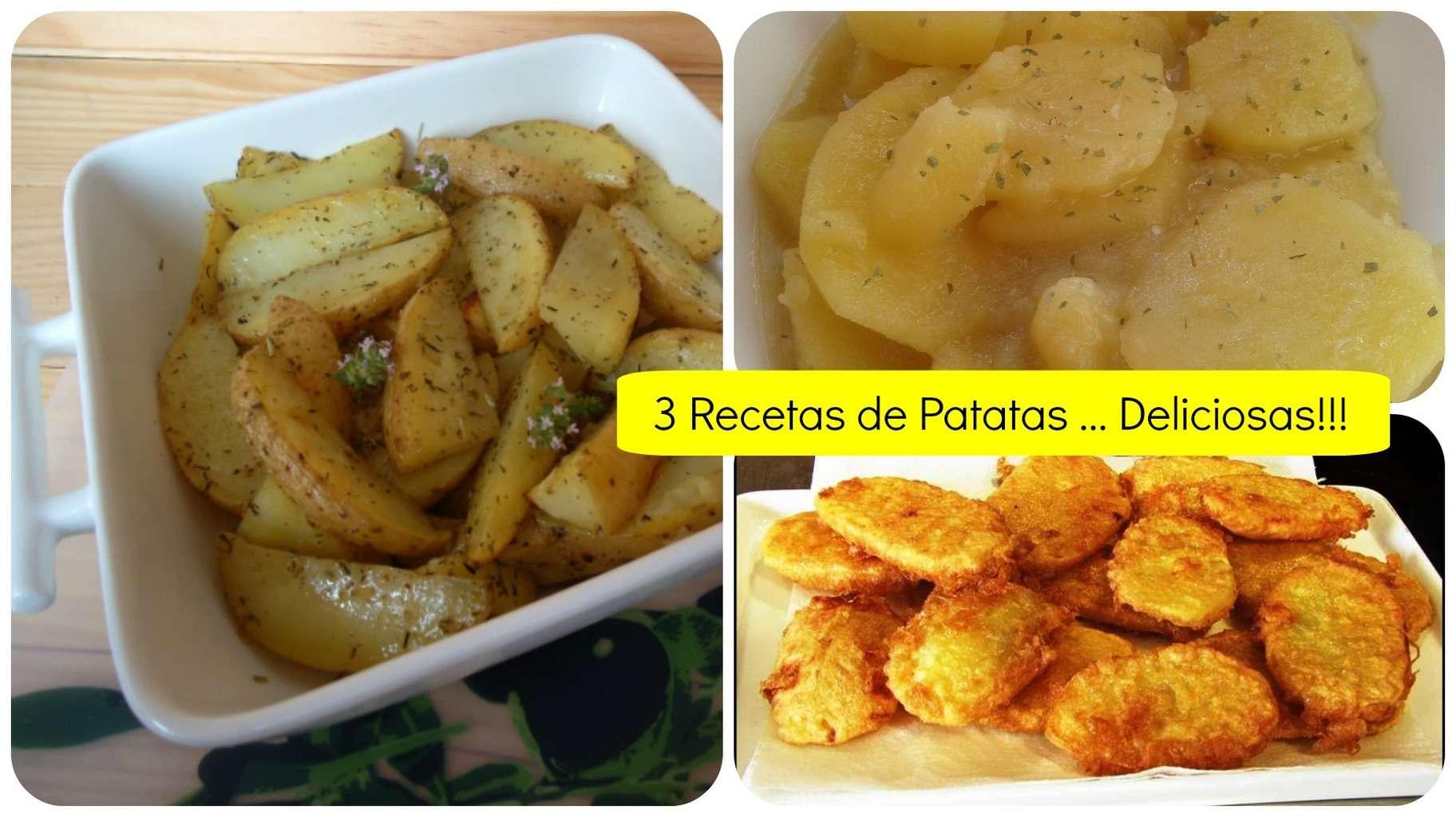 3 Recetas de patatas deliciosas