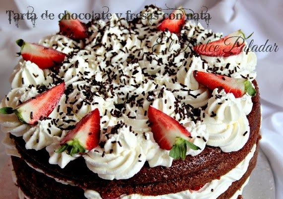 tarta chocolate fresas nata