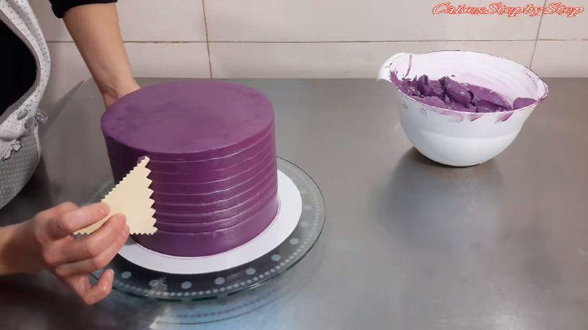 Encantadora tarta de rosas (Video de 2 minutos) 2