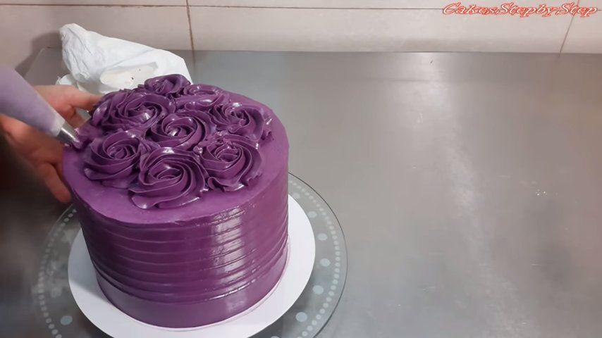 Encantadora tarta de rosas (Video de 2 minutos) 3