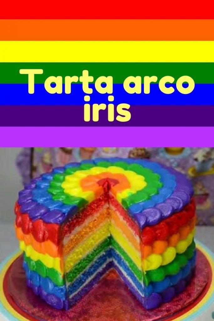 Cómo hacer una tarta arco iris