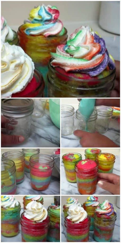 como hornear cupcakes en frascos o jarros de vidrio
