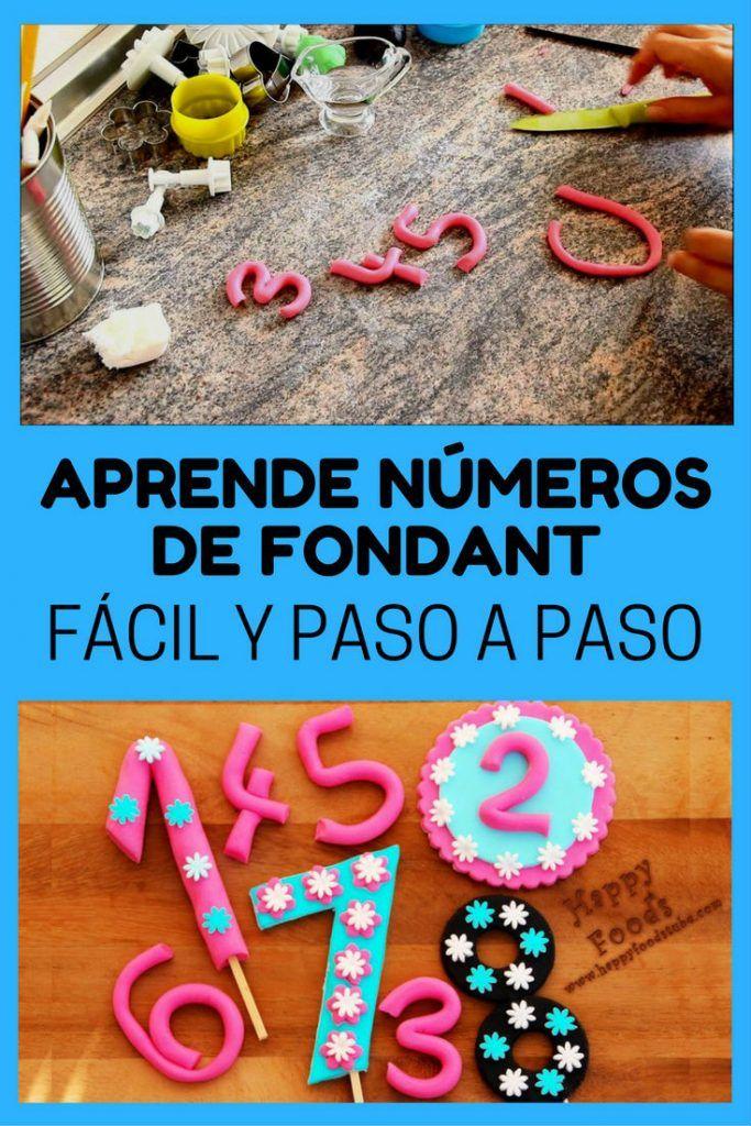 números de fondant