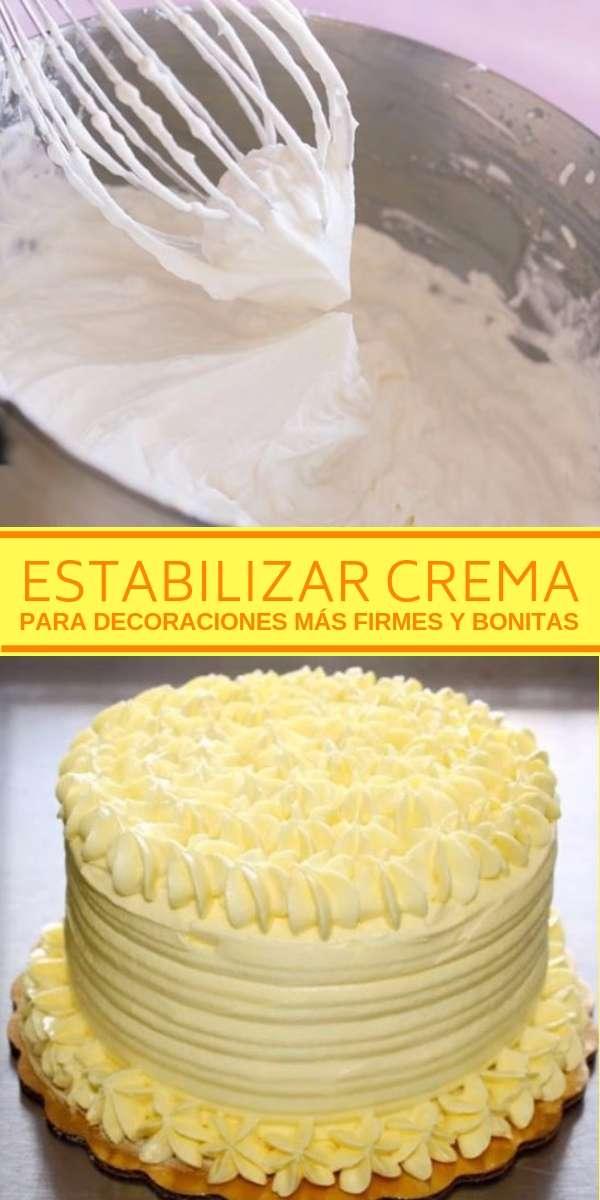 Cómo estabilizar crema para decoraciones más firmes