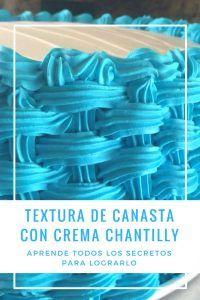 Textura de canasta con crema chantilly