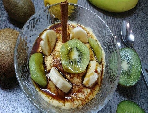 Natillas caseras con frutas superior