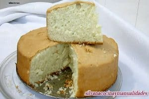 Receta bizcocho base para tartas ideal para hacer varias capas