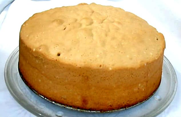 receta bizcocho básico para tartas
