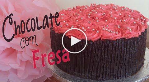 Tarta de chocolate y fresa f cil y r pida - Reposteria facil y rapida ...