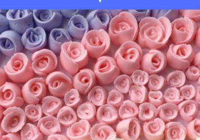 Cómo hacer rosas con glasa real