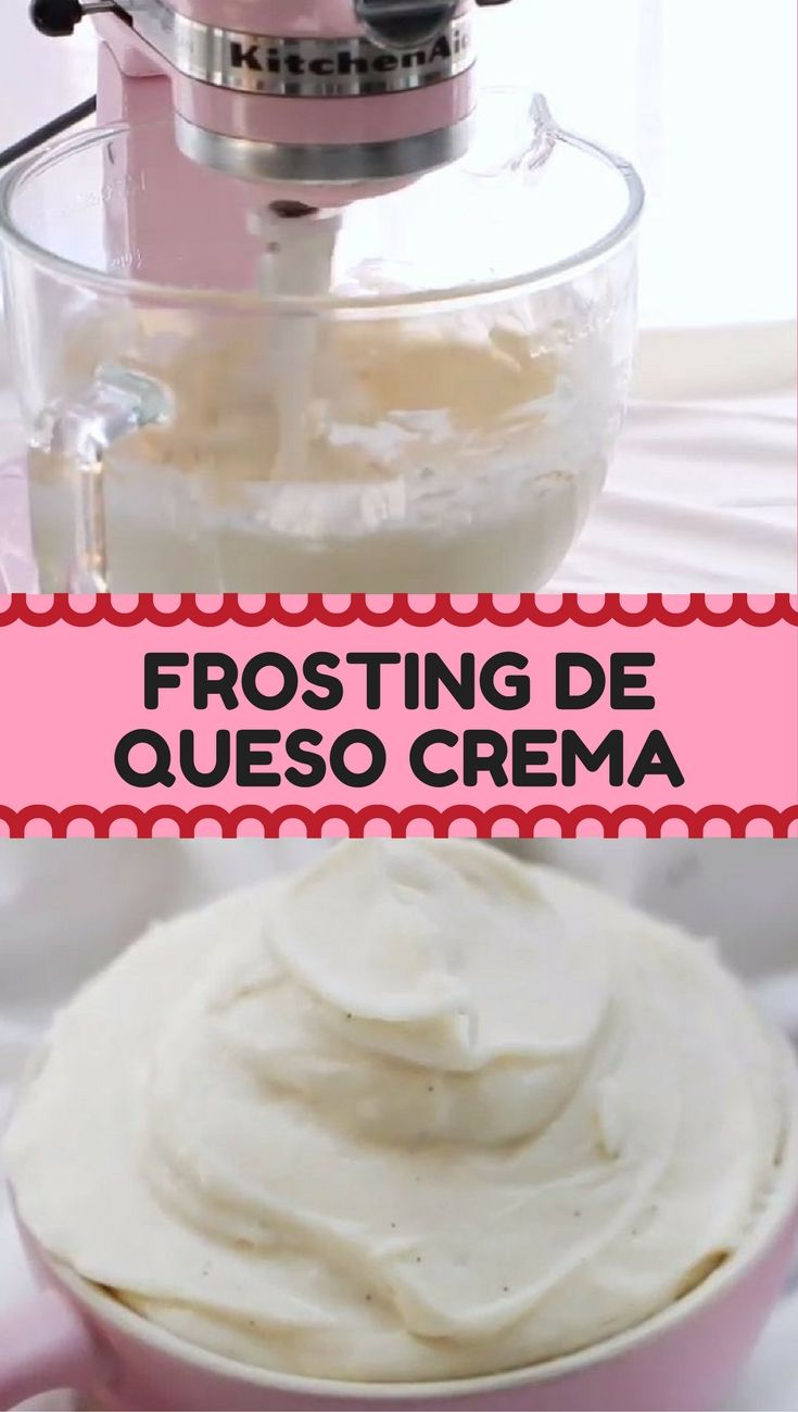 frosting de queso crema