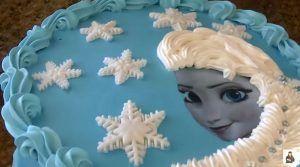 Torta def frozen princesa