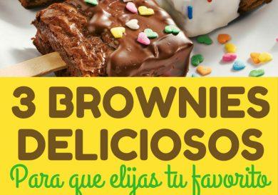 3 brownies deliciosos