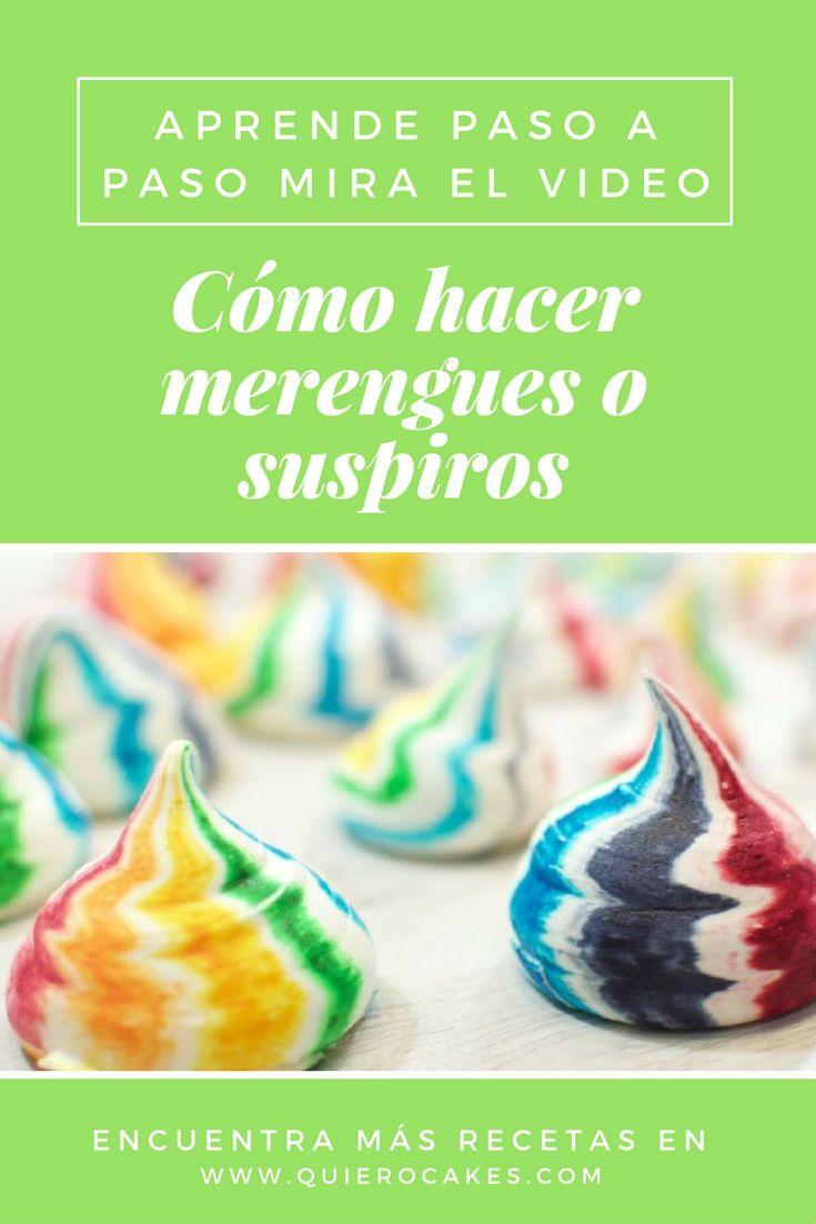 Cómo hacer merengues o suspiros