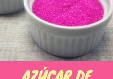 azúcar de colores paso a paso