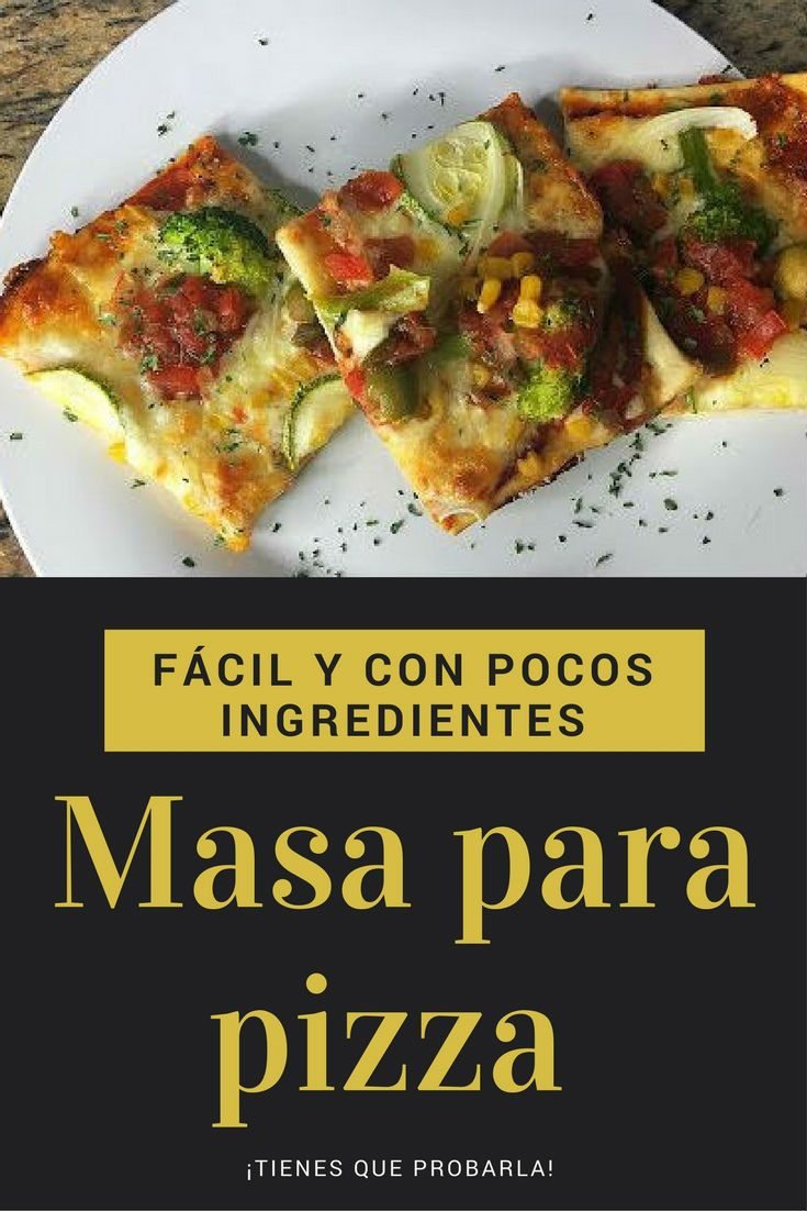 masa para pizza fácil