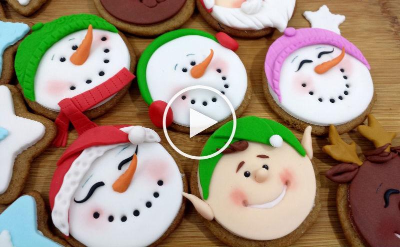 C mo decorar galletas de navidad con fondant de forma - Reposteria facil y rapida ...