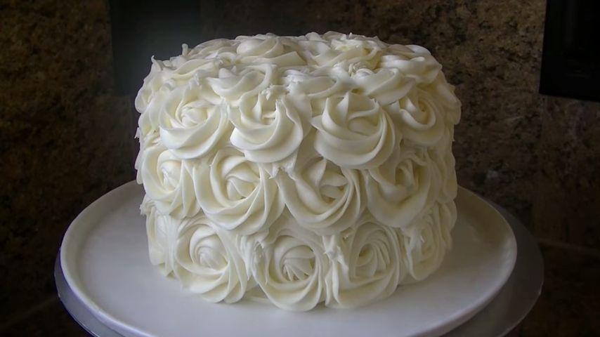 Torta de rosas lista