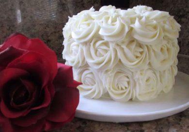 Tarta con rosas