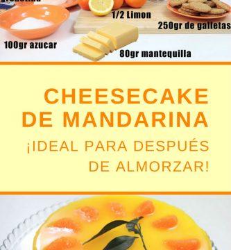 Tarta de queso de mandarina