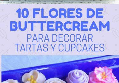 10 flores de buttercream para decorar tartas y cupcakes