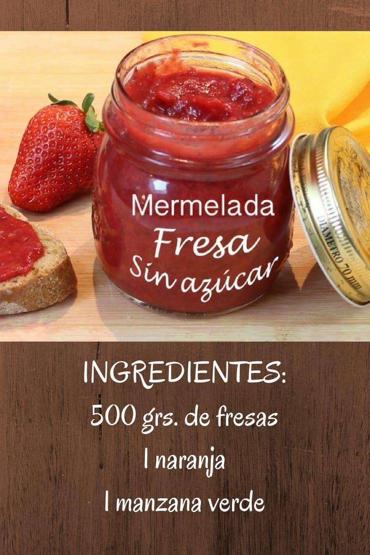 mermelada de fresa sin azucar
