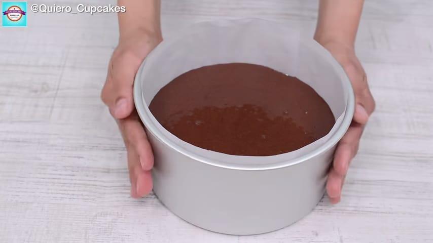 Bizcocho de chocolate casero 5