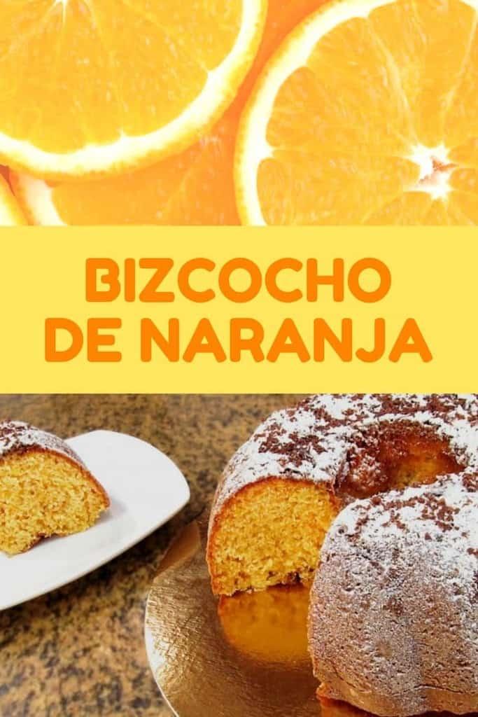 Bizcocho de naranja casero, esponjoso y muy fácil