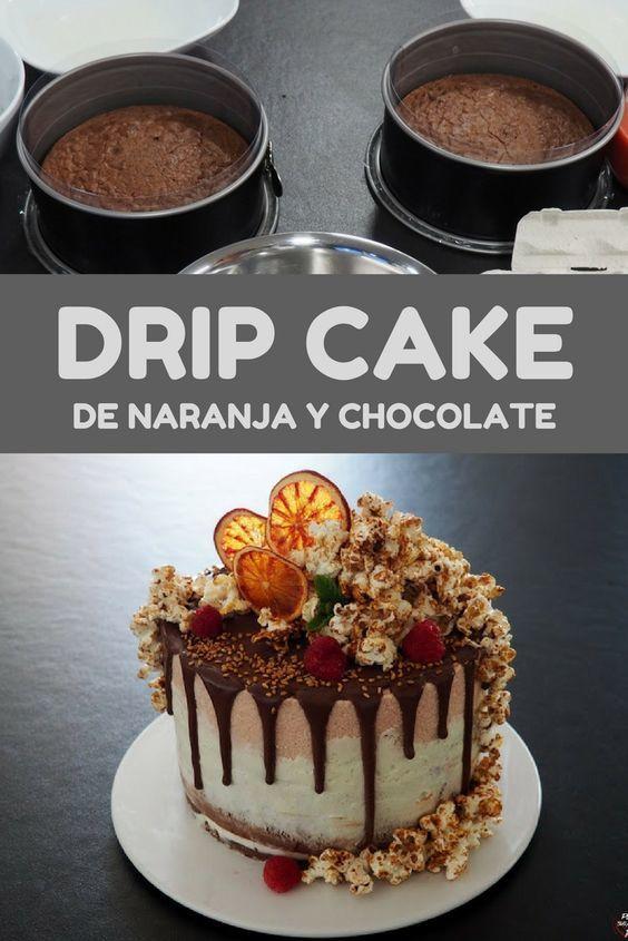 tartas faciles drip cake