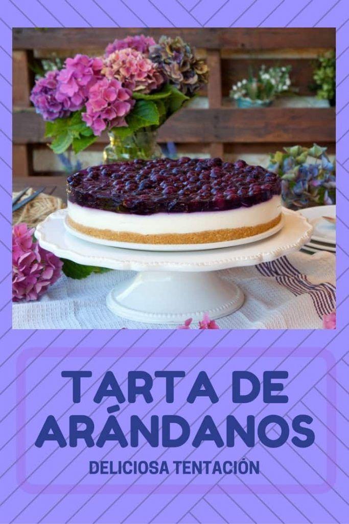 tartas fáciles arandanos