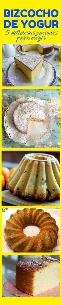 bizcocho de yogur 5 deliciosas opciones
