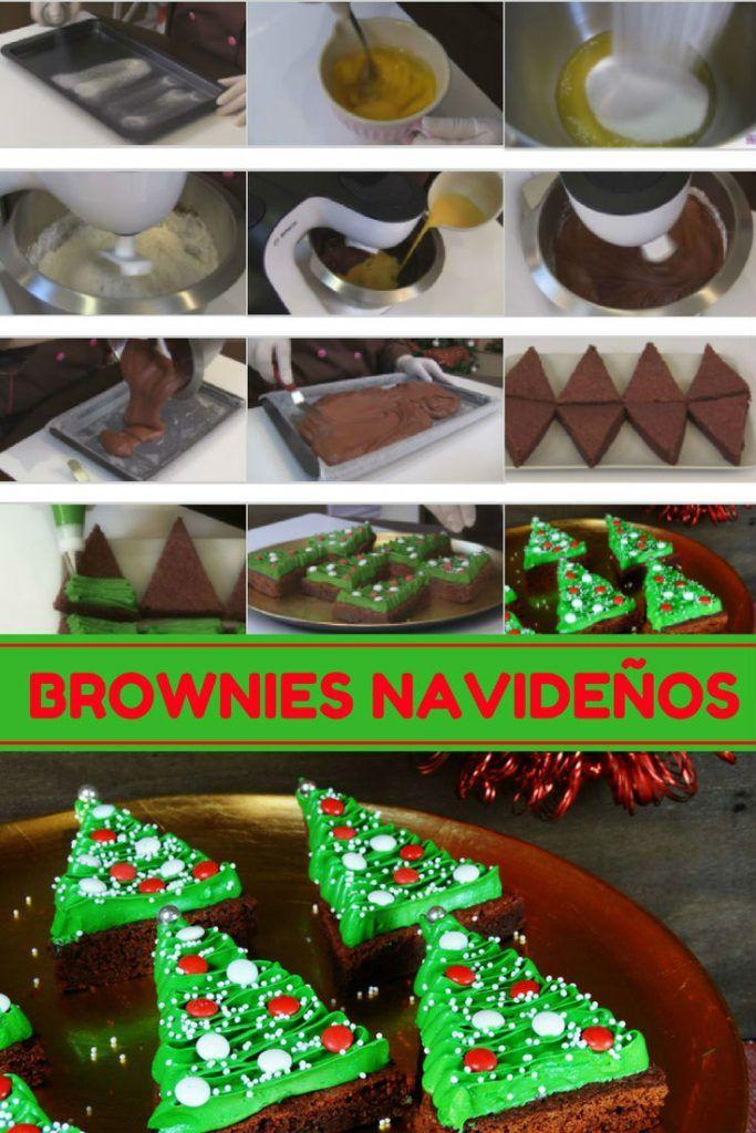 brownies arbolito de navidad