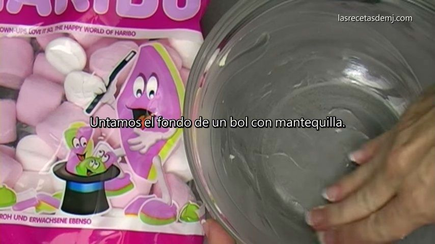 como hacer fondant de marshmallows untar bol con mantequilla