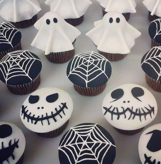 ideas para halloween cupcakes fantasmales