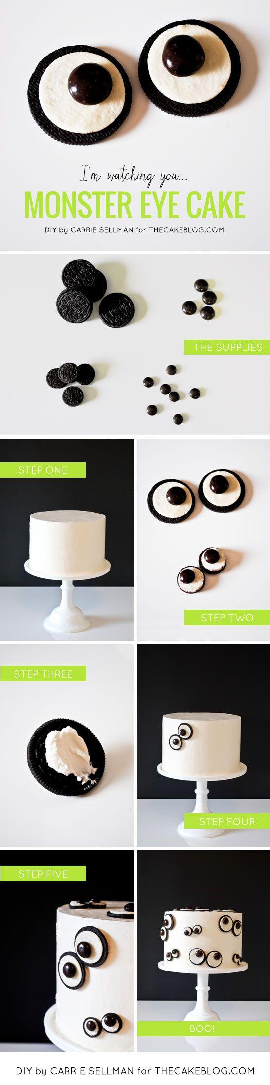 ideas para halloween tarta de ojos paso a paso