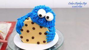 cumpleaños temáticos torta monstruo galletas
