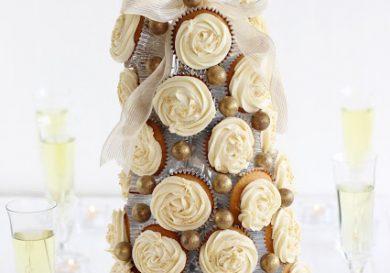 Arbol de Navidad con cupcakes