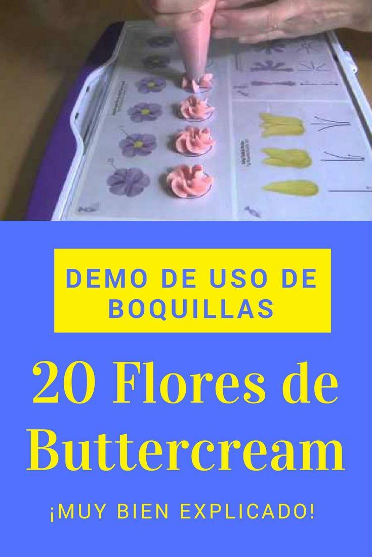 Flores de buttercream demo uso de boquillas