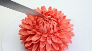 tarta de crisantemo gigante