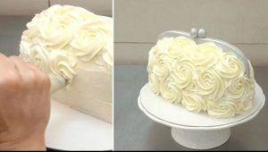 tarta bolso con buttercream