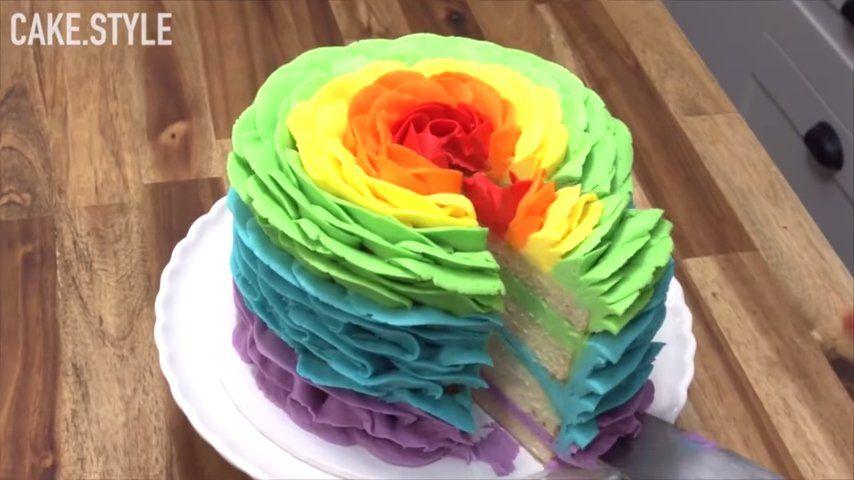 tartas y postres arcoiris